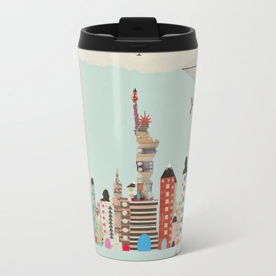 visit new york Metal Travel Mug