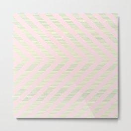 Pink Arrows Metal Print