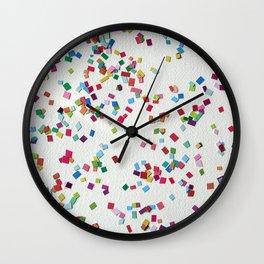 Confetti by Robayre Wall Clock