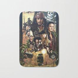 Pirates of the Carobbean Poster Bath Mat