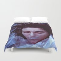 laura palmer Duvet Covers featuring Laura Palmer from Twin Peaks by Alice Teal