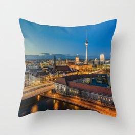 Berlin Blues Throw Pillow