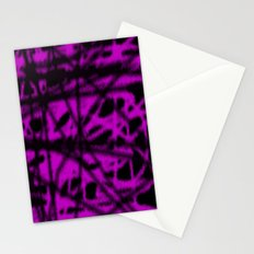 pink and black wire Stationery Cards