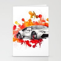 lamborghini Stationery Cards featuring Lamborghini Huracan by Claeys Jelle Automotive Artwork
