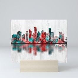 Vancouver Canada Skyline Mini Art Print