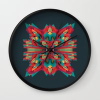 cyberpunk Wall Clocks featuring Summer Calaabachti Heart by Obvious Warrior