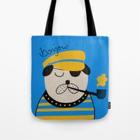 bonjour Tote Bags featuring Bonjour by Farnell