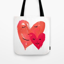 Watercolor couple of hearts Tote Bag