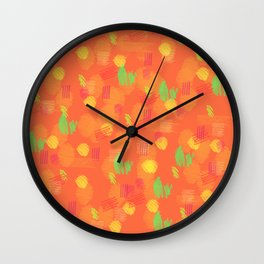 '90 Style Pastel Pattern Wall Clock