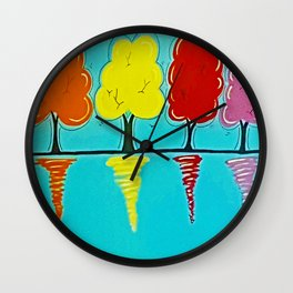Reflection of Colours Wall Clock