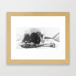 suck it in bitch Framed Art Print