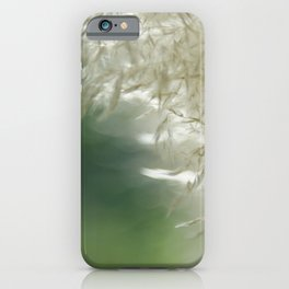 Wispy over green iPhone Case