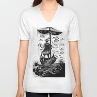 voyage V-neck T-shirts featuring Voyage by Daizy Boo