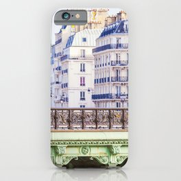 Paris Seine River View - Travel Photography iPhone Case