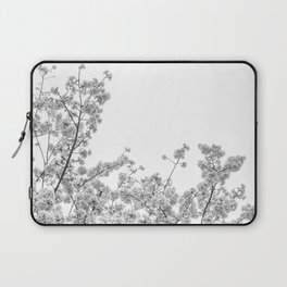 Cherry Blossoms (Black and White) Laptop Sleeve