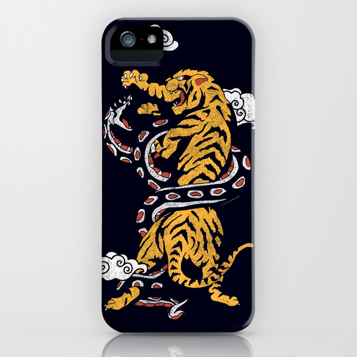 tiger vs snake iphone case