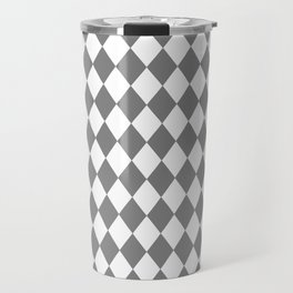 Diamonds (Gray/White) Travel Mug