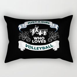 Just A Girl Who Loves Volleyball Rectangular Pillow