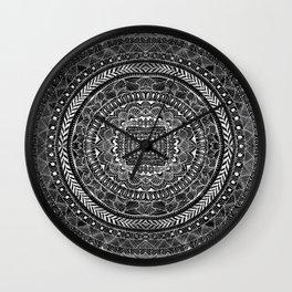 Zentangle Mandala Black and White Wall Clock