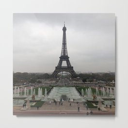 Eiffel Tower, Paris France Photography Metal Print