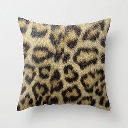 Leopard Fur Throw Pillow