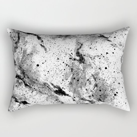 Galaxy (B/w inverted) Rectangular Pillow