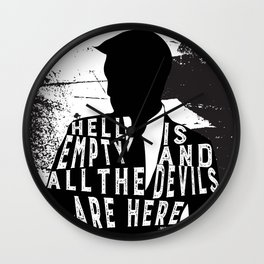 Shatter Me - Hell Is Empty Wall Clock