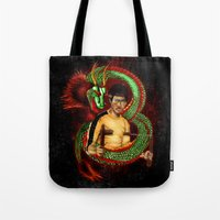 targaryen Tote Bags featuring The Dragon with rainbow ray ban iPhone 4 4s 5 5c 6, pillow case, mugs and tshirt by Greenlight8
