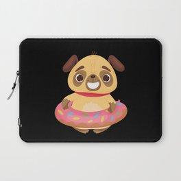Baby Puppy In A Cute Donut Tutu Laptop Sleeve