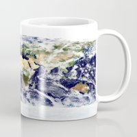 planet Mugs featuring PLANET by Planet Prints