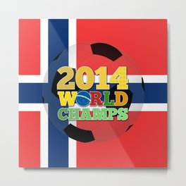 2014 World Champs Ball - Norway Metal Print