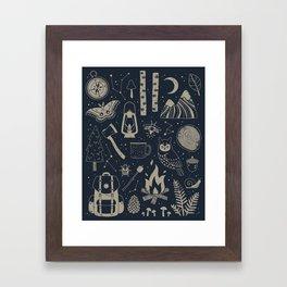 Into the Woods: Stargazing Framed Art Print