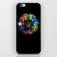 magic the gathering iPhone & iPod Skins featuring Magic the Gathering - Faded Guild Wheel by omgitsmagic