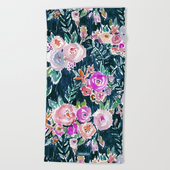 PROFUSION FLORAL - MIDNIGHT Beach Towel