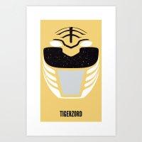power rangers Art Prints featuring TIGERZORD - Power Rangers  by d00d it's jake