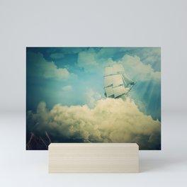 Air floating boat Mini Art Print