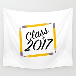 Class of 2017, black font Wall Tapestry