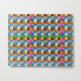 S6 Test Grid Metal Print