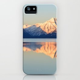Images USA Montana, Lake McDonald, Glacier national Park Nature Mountains Snow Parks Reflection mountain park reflected iPhone Case