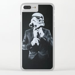 Stormtrooper in smoking Clear iPhone Case
