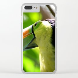 Tropical Toucan Clear iPhone Case