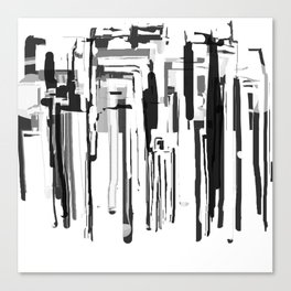 City in Black and White Canvas Print