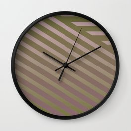Variation of pattern by grey tones 1 Wall Clock
