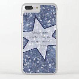 starry sky pacific northwest haiku Clear iPhone Case