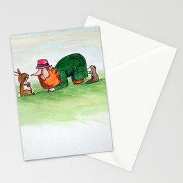 Eye to eye Leprechaun and Rabbit Stationery Cards
