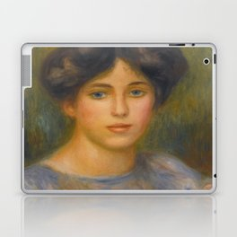 """Auguste Renoir """"Jeune fille aux roses (Young girl with flowers)"""" Laptop & iPad Skin"""