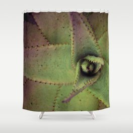 Succulent cactus close-up - Aloe Photography #Society6 Shower Curtain