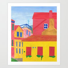 Cannaregio, Venice. (Remixed) Art Print