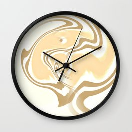 Vanilla Swirl Wall Clock