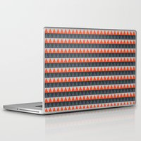 gray pattern Laptop & iPad Skins featuring Orange Gray Pattern by Jaymee